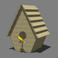 鸟巢鸟窝SU设计模型图