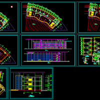 弧形酒店建筑设计施工图