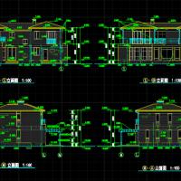 15.34X16.74两层欧式别墅设计方案图纸(带车库)