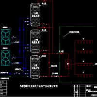 空气源热泵中央供热水系统图