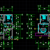 10.8X10.8三层别墅自建房设计全套图纸(带车库)