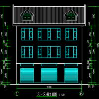 11.8X12.8三层农村自建房别墅建筑及结构全套设计图