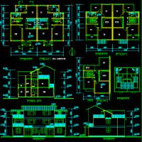 8.4X22.3江苏两层新农村住宅建筑方案图纸