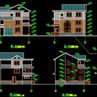 11.64X10.74某3层砖混新农村住宅建筑结构图