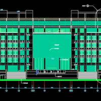 八层某大学图书馆建筑设计图纸含详图