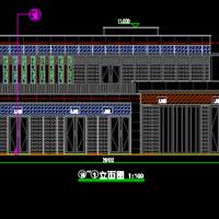 两层钢框架结构商业楼建筑设计图