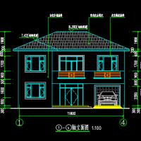 11.8X9.6两层农村自建房建筑设计图
