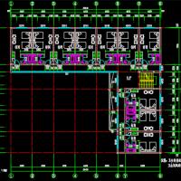 L形私人旅馆建筑结构水电全套施工图