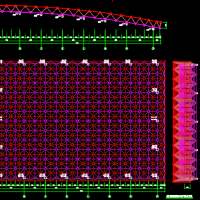 33.6米跨正放四角锥屋面网架结构设计图