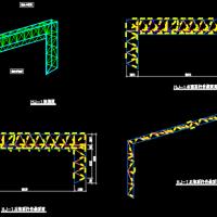 冷却塔罩棚钢结构设计图纸