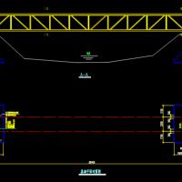 钢结构管道桁架结构设计图纸