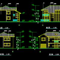 14.094X12.894二层轻钢别墅建筑设计图(300平方米)
