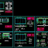 钢结构公交候车亭图纸