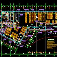 广东某大学三层钢结构食堂建结水电暖全套图(节点详细)