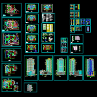 32层高层住宅建筑图纸(商住楼)