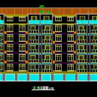 一梯两户标准单元式多层住宅楼建筑设计图