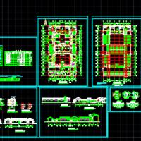 59X32.2大型四合院建筑设计施工图纸(垂花门楼)