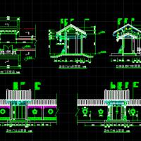 宅门及垂花门楼设计图