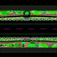 西安一道路绿化设计图