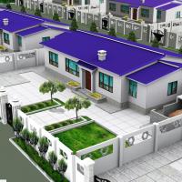 15.77X9.14一层农村自建房建筑设计图(含效果)