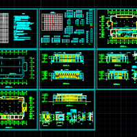 某学校食堂及报告厅建筑设计图纸