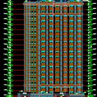 广联达员工公寓建筑及结构全套图