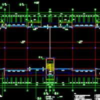 安徽某三层框架结构丙类厂房建筑及结构全套图