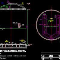 15000T水泥钢板库结构设计图纸