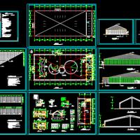 某海珍品养殖大棚建筑设计CAD图