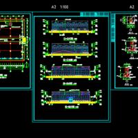 农业智能温室大棚建筑及结构设计图