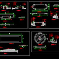 花坛小品施工设计规划方案CAD图纸