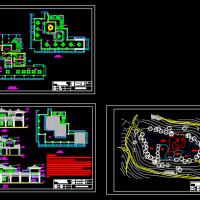 茶室的全套建筑设计图