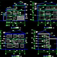 13.2X12.8三层别墅私宅建筑结构水电全套施工图