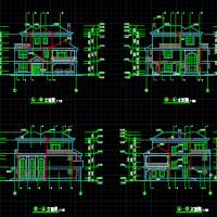 15.1X16.3三层别墅建筑设计图纸