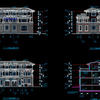 21X15.9三层双拼别墅建筑设计图纸