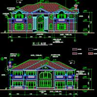 22.7X24.2两层豪华别墅建筑设计图