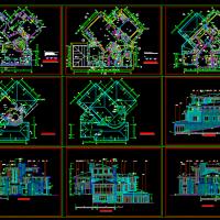 24.1米面宽北京某经典别墅图设计图