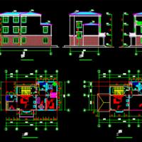 16.2X9.0三层农村自建房建筑设计图(大客厅)
