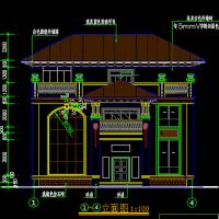 13.6X11三层欧式别墅建筑设计图纸