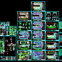 某16层大酒店给排水施工图(图纸详细)