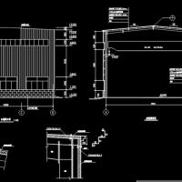8米跨带5t吊车钢结构厂房建筑及结构设计全套图