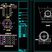 砖砌圆形雨污水检查井图CAD图纸(节点全面)