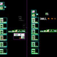 湖南四层小学教学楼给排水设计CAD图(2018最新)