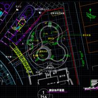儿童戏水池及游泳池平面及剖面CAD详图