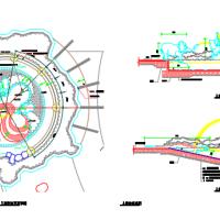 儿童戏水池平剖面CAD图