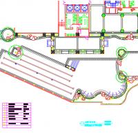 游泳池灯个布置CAD图