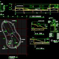 游泳池平剖设计CAD详图