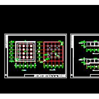 1000方矩形水池结构设计CAD图