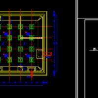 5000方水池结构平面布置图