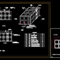两套不锈钢保温水箱CAD图纸